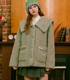 RolaRola-外套 <br>로라로라-(JK-20706) BOUCLE SAILOR JACKET MINT