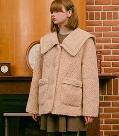 RolaRola-外套 <br>로라로라-(JK-20706) BOUCLE SAILOR JACKET BEIGE