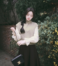 milkcocoa-外套<br>밀크코코아-wool 30% mohair 5%, Daily turtleneck knit