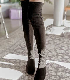 common-unique-靴子<br>커먼유니크-[SHOES] MONTANA SUEDE THIGH HIGH BOOTS