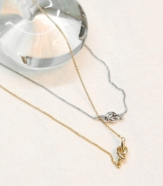 common-unique-項鏈<br>커먼유니크-[JEWELRY] IDEN KNOT PENDANT NECKLACE